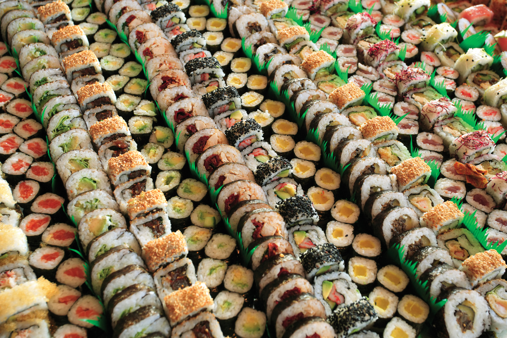 lots of sushi