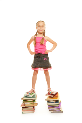girl on books iStock 000010036615XSmall