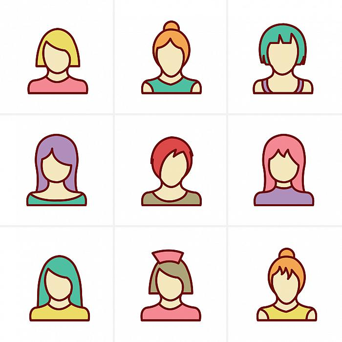 different hair style shapes