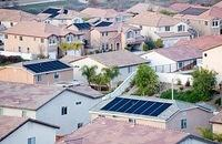 solar panels on residential roofs